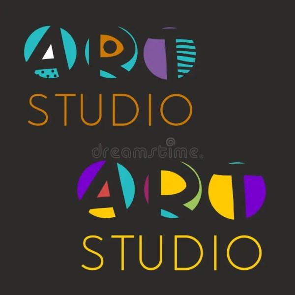 Logo Design Template Art Studio School Of
