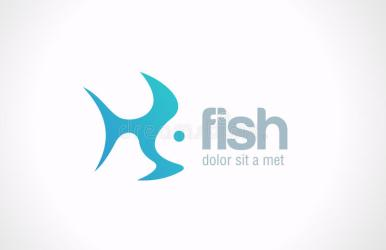 fish vector abstract creative concept seafood restaurant icon silhouette template idea fishing salmon clipart vectors dreamstime ocean logotype royalty illustrations