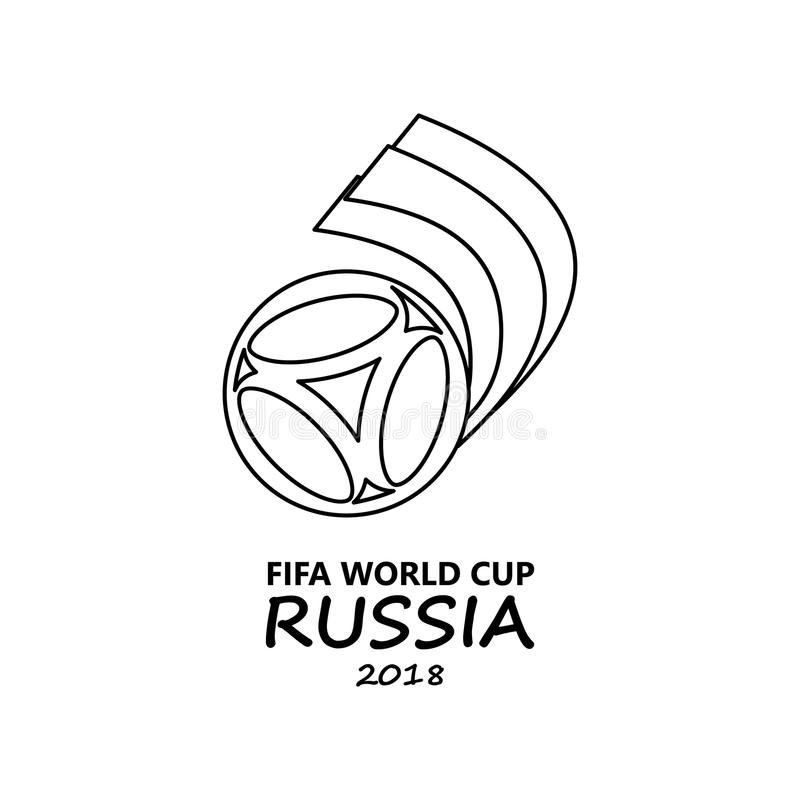 Logo Of The Football World Cup Russia Icon. Element Of
