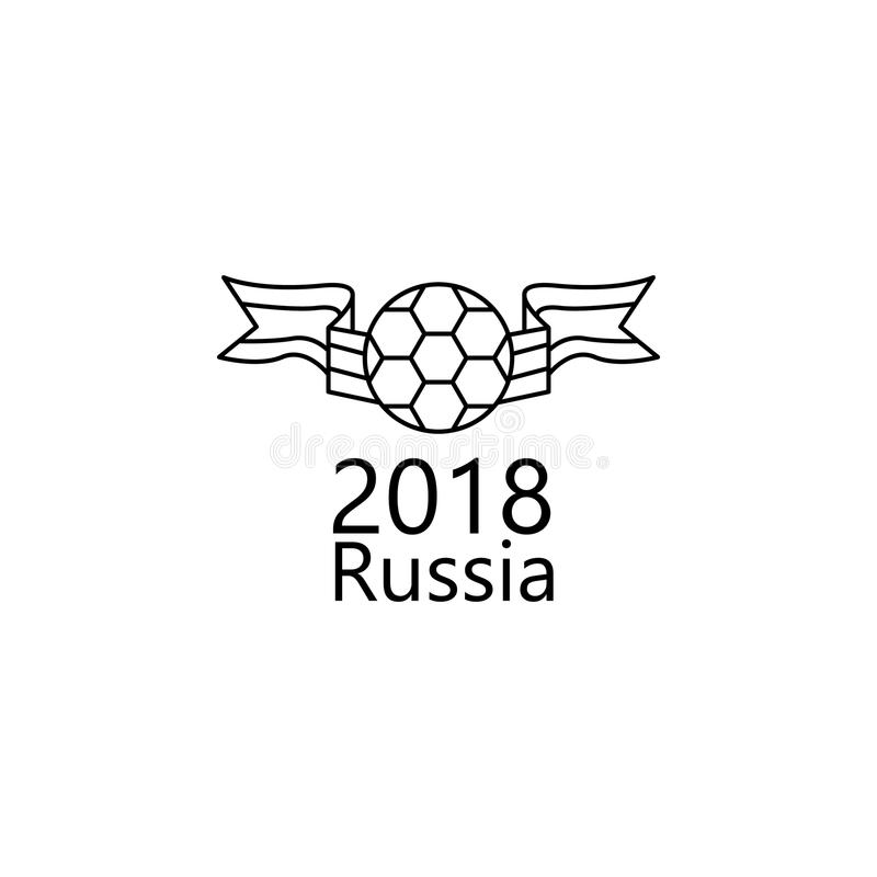 Logo Of The World Cup 2018 Icon. Element Of Soccer World