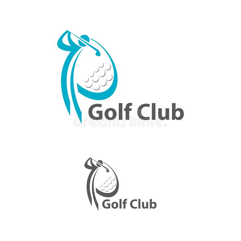 Logo Of A Golf In Motion. This Logo Is Suitable For Many