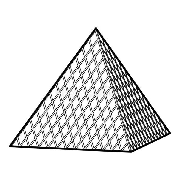 Pyramid Outline Drawing