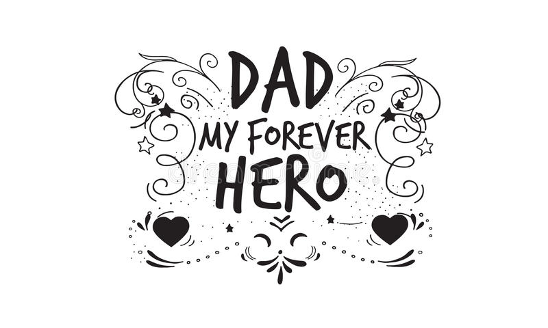 Love daddy quote stock vector. Illustration of letter