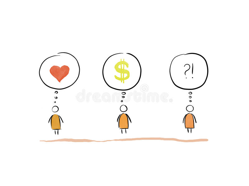 Question of Love 1 stock illustration. Illustration of