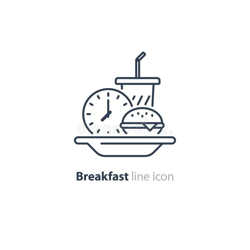 British Breakfast Line Icon, Vector. British Breakfast