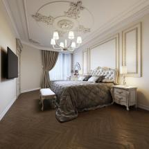 Luxurious Bedroom In Modern Style With Roof Window