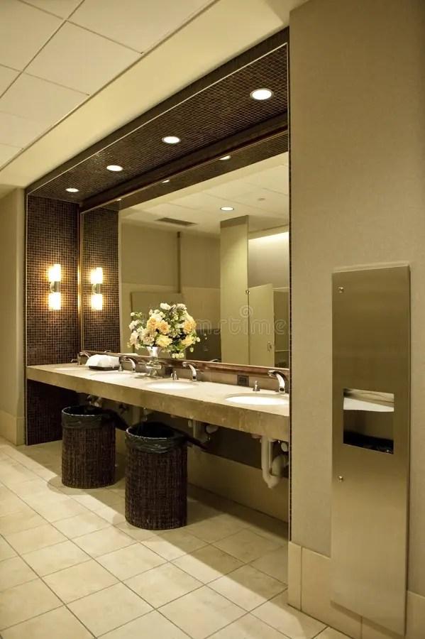 Luxurious public bathroom stock photo Image of modern  13166252