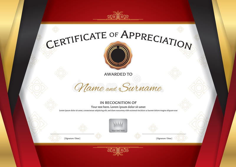 Elegant Certificate Of Appreciation Template Choice Image