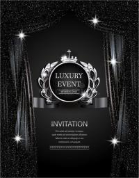Luxury Event Elegant Silver And Black Background With ...