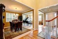 Luxury House Interior With Open Floor Plan Stock Photo ...