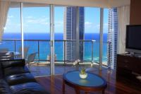 Luxury Living Room Top Floor With Ocean View Stock ...