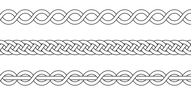Macrame Crochet Weaving, Braid Knot, Vector Knitted