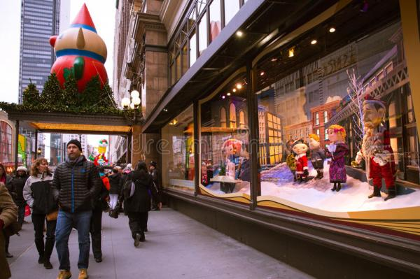 Macy39s NYC Holiday Windows editorial image Image of
