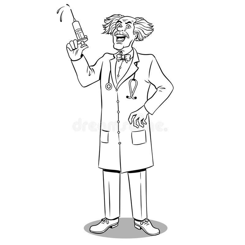 Medical Scientist With Microscope Vector Stock Vector