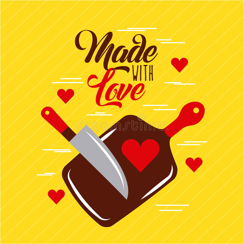 Download Made with love cooking stock vector. Illustration of ...