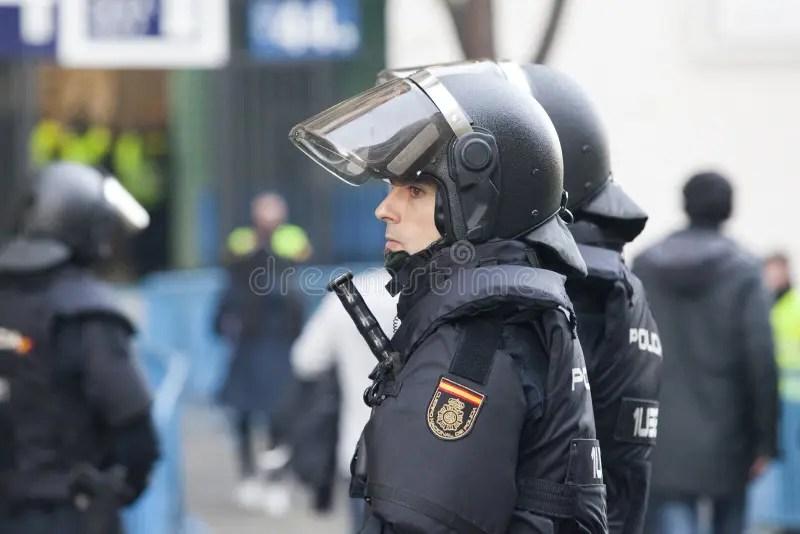 Policewoman on patrol. stock photo. Image of pistol. building - 8511926