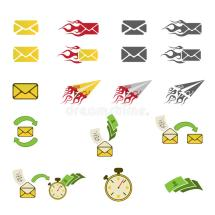 Mail Icons Stock Vector. Illustration Of