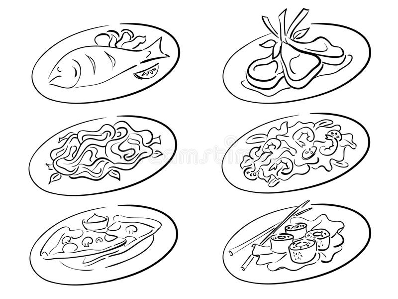 Restaurant Food Plate Stock Vector Images
