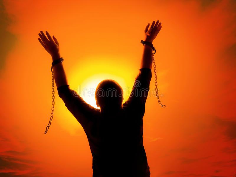 Hands Breaking Free Chains