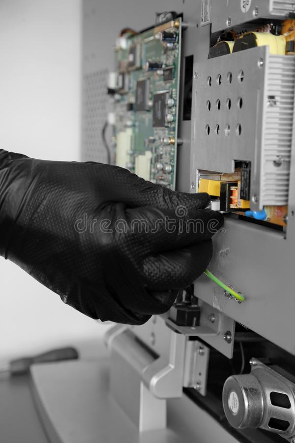 Printed Circuit Board Repair Royalty Free Stock Images Image