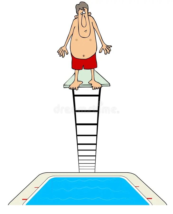 Diving Board Clipart : diving, board, clipart, Diving, Board, Water, Stock, Illustration, Platform,, Decor:, 173392571