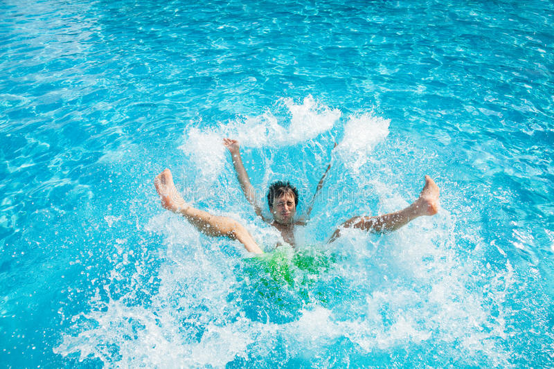 Man Falling And Splashing Into Water Stock Image  Image
