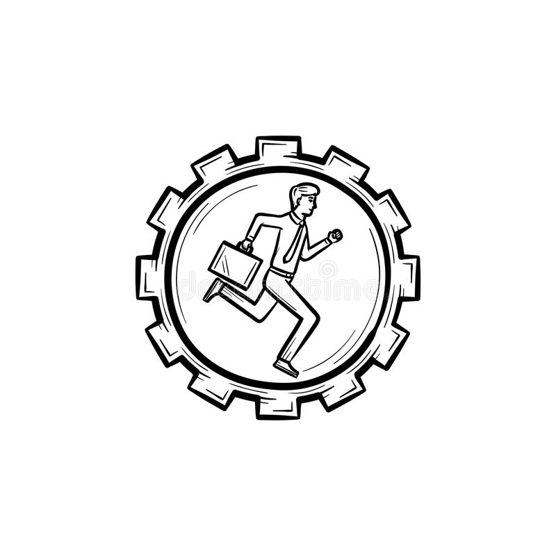 Rotation Gear Infographics Design Stock Vector