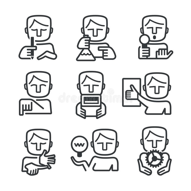 Set Of Residential Security Icons Stock Vector