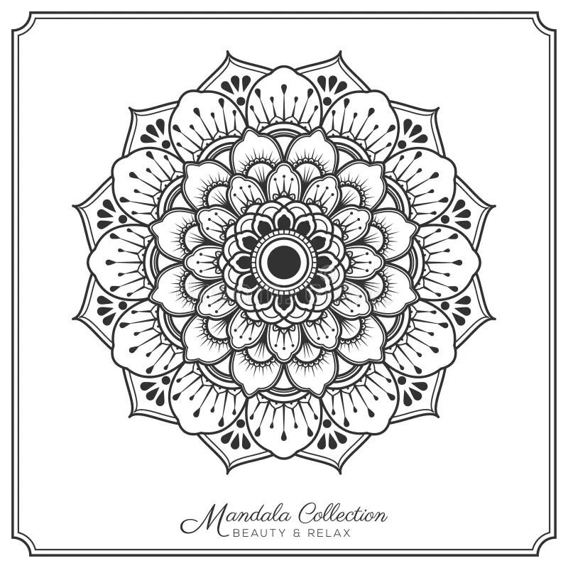 Mandala Decorative Tattoo Design Stock Vector