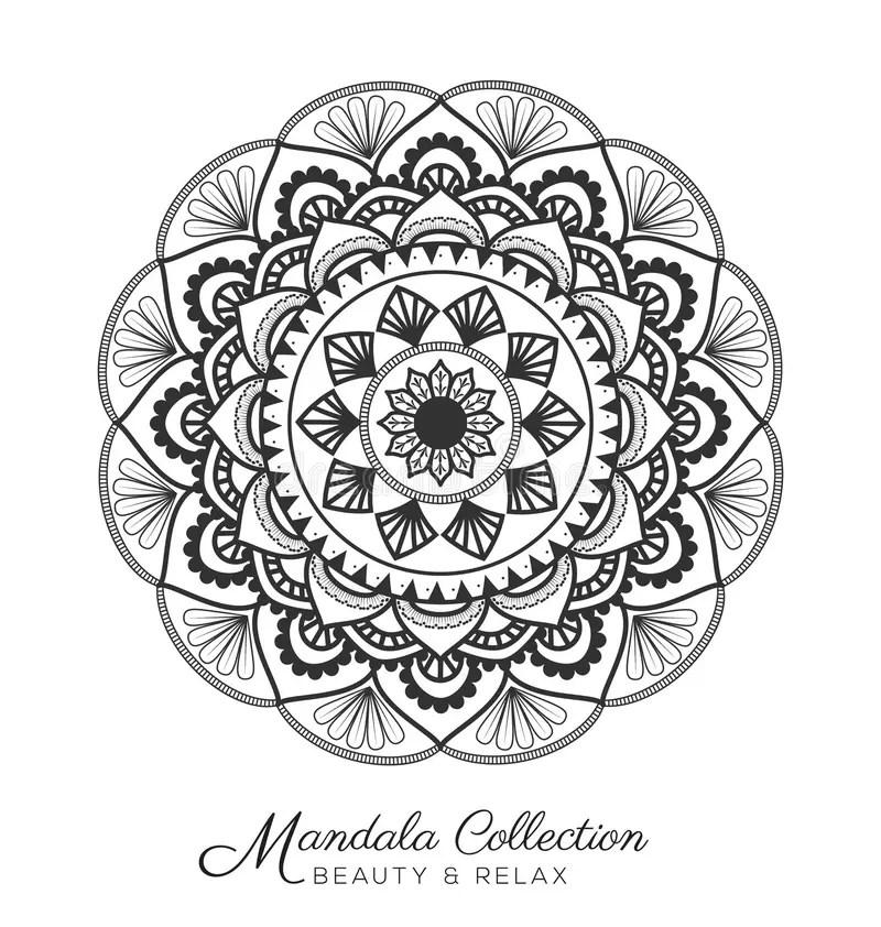Mandala design stock vector. Illustration of mehndi