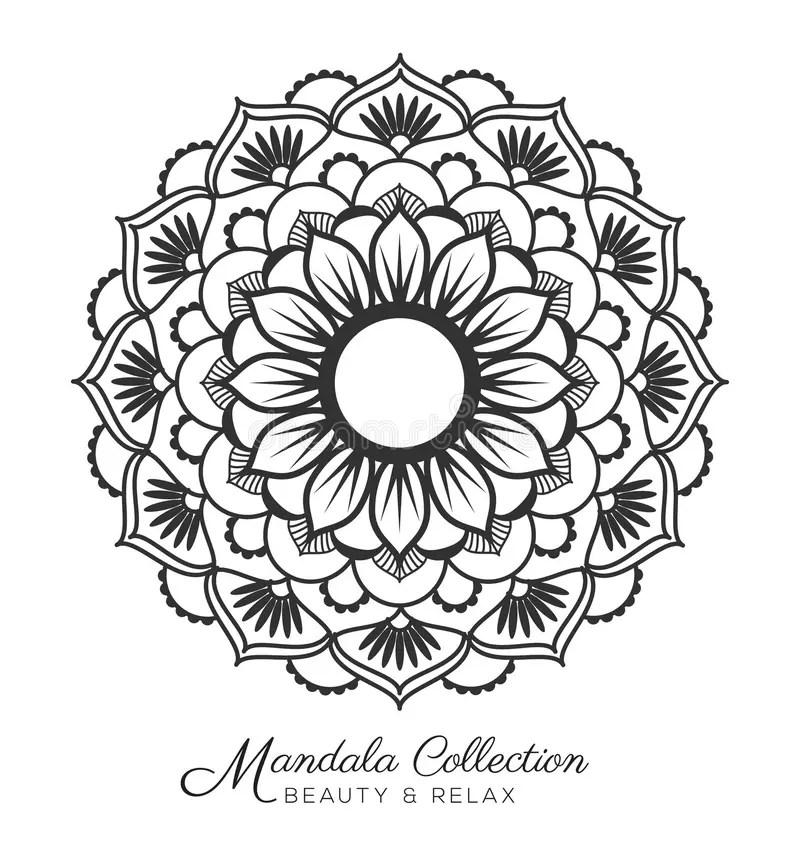 Mandala design stock vector. Illustration of floral, style