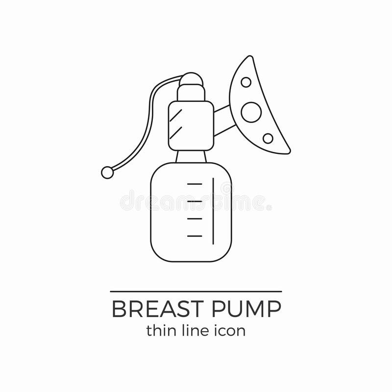 Breast Pump Silhouette Vector Symbol Icon Design. Stock