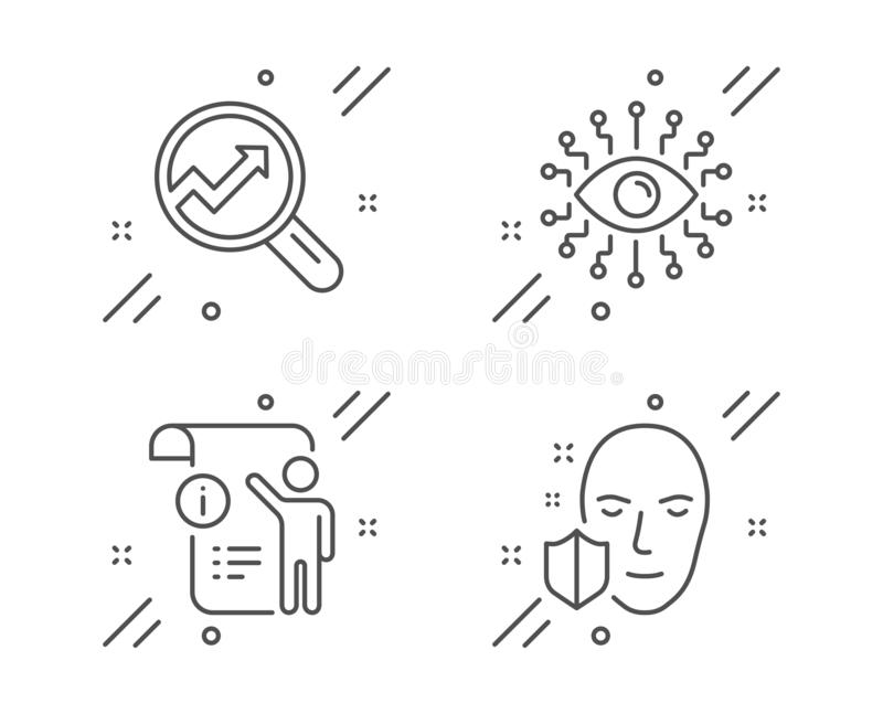 Manual Doc, Analytics And Artificial Intelligence Icons