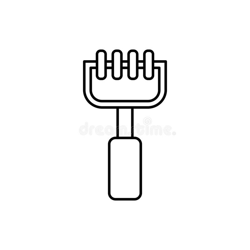Manual Massage Spine Tool Icon. Simple Line Outline Vector