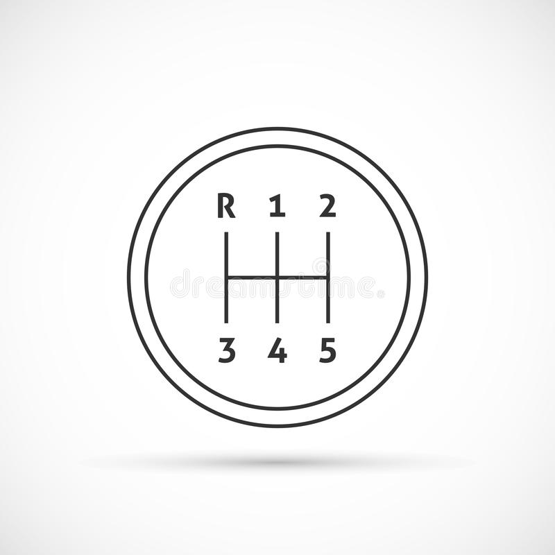 Manual Transmission Outline Icon Stock Vector