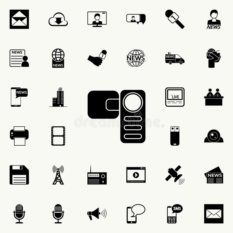 Manual Video Camera Icon. Media Signs For Mobile Concept