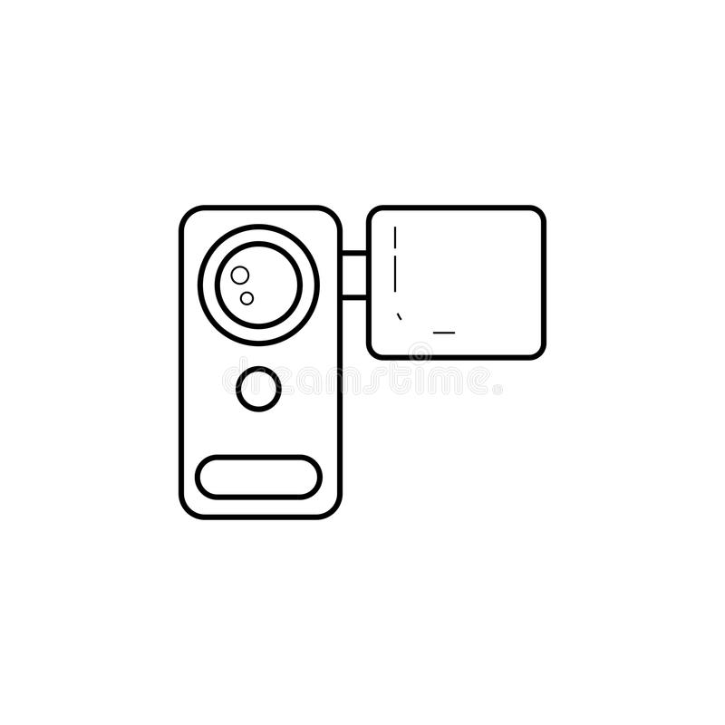 Manual Video Camera Icon. Element Of Media For Mobile