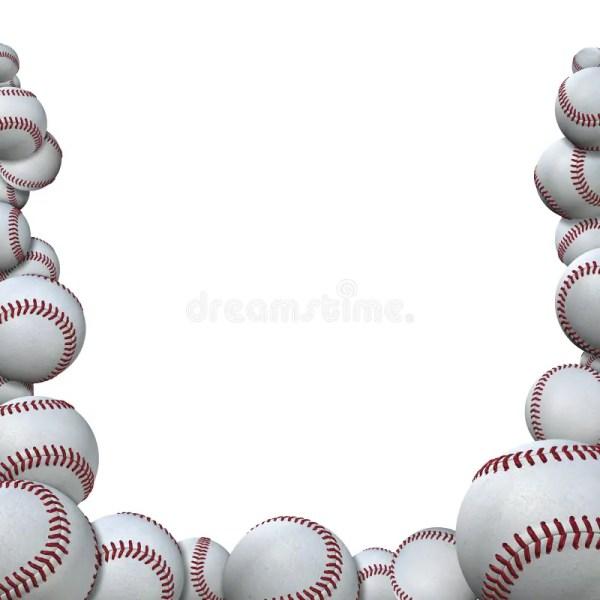 Baseballs Form Baseball Season Sports Border Stock