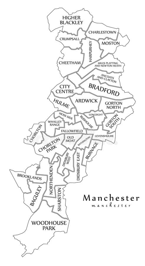 Manchester Inglaterra Mapa