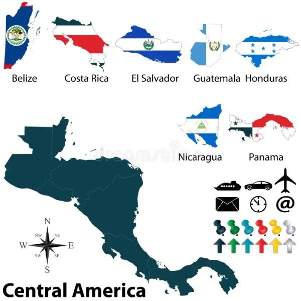 Cartina Muta Delle Americhe.Cartina America Centrale Vtwctr
