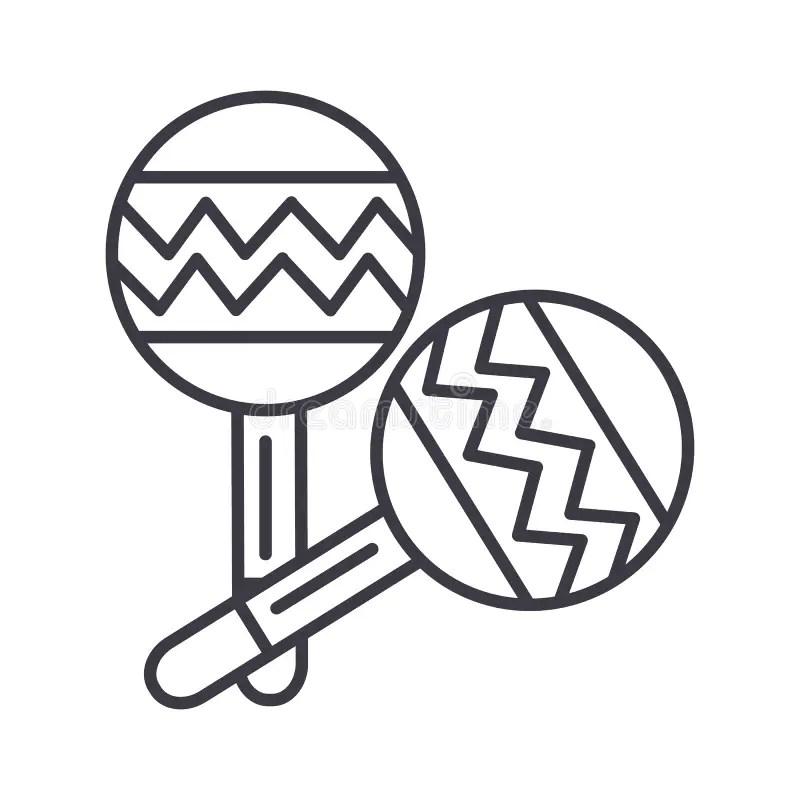 Maracas Musical Equipment Icon Vector Illustration Stock