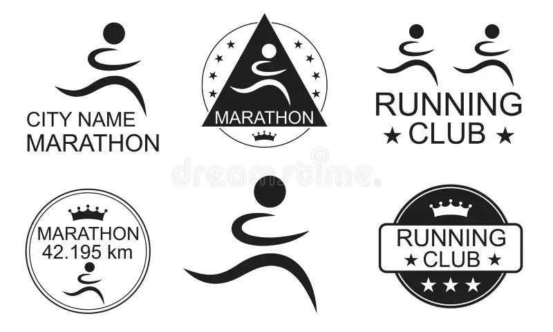 Half Marathon. Word Of Triangular Letters Stock Vector