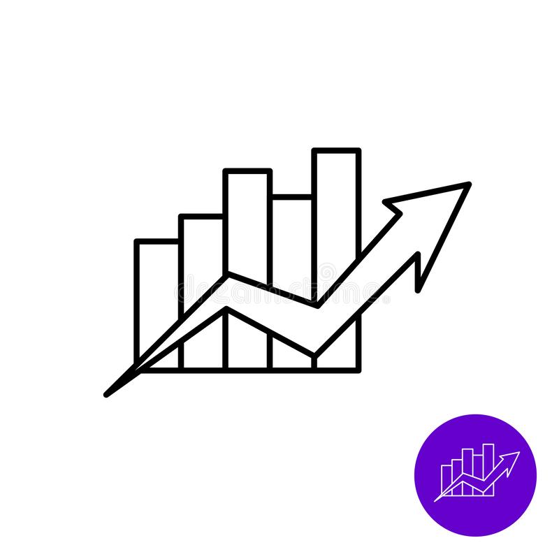 Growth diagram with arrow stock illustration. Illustration