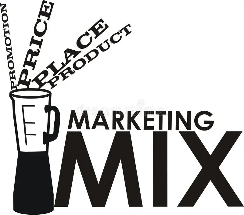Marketing mix stock illustration. Illustration of place