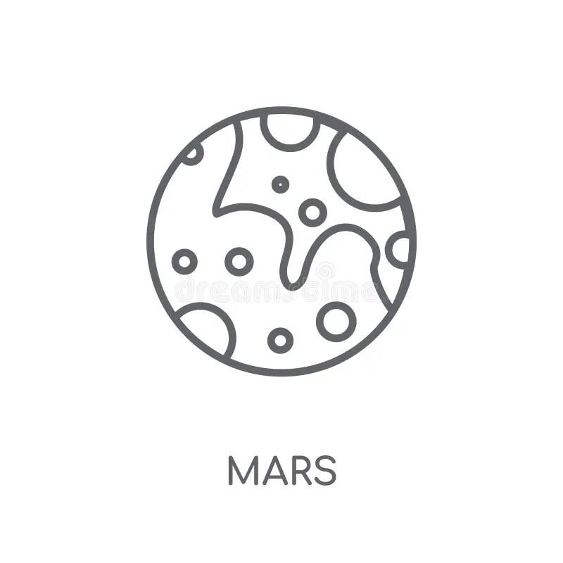 View of planet Mars stock illustration. Illustration of