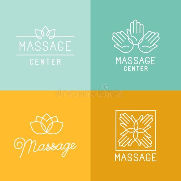 Massage Logos Stock Vector - 58558514