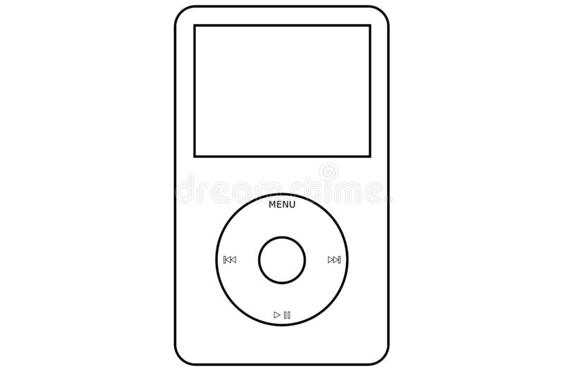 White Apple IPod Classic Illustration Editorial Stock