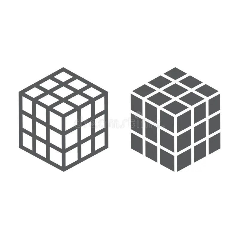 Math Cube Glyph Icon, Block And Geometric Stock Vector