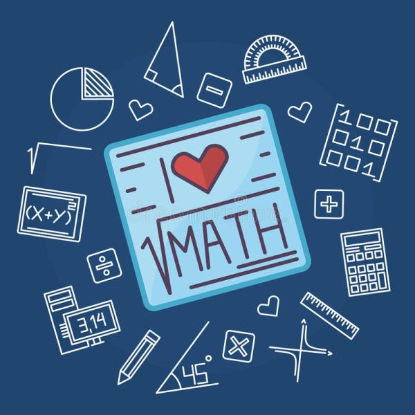 Math Education Vector Background Stock