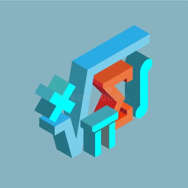 Stem Set Of Isometric Icons Stock Vector - Illustration